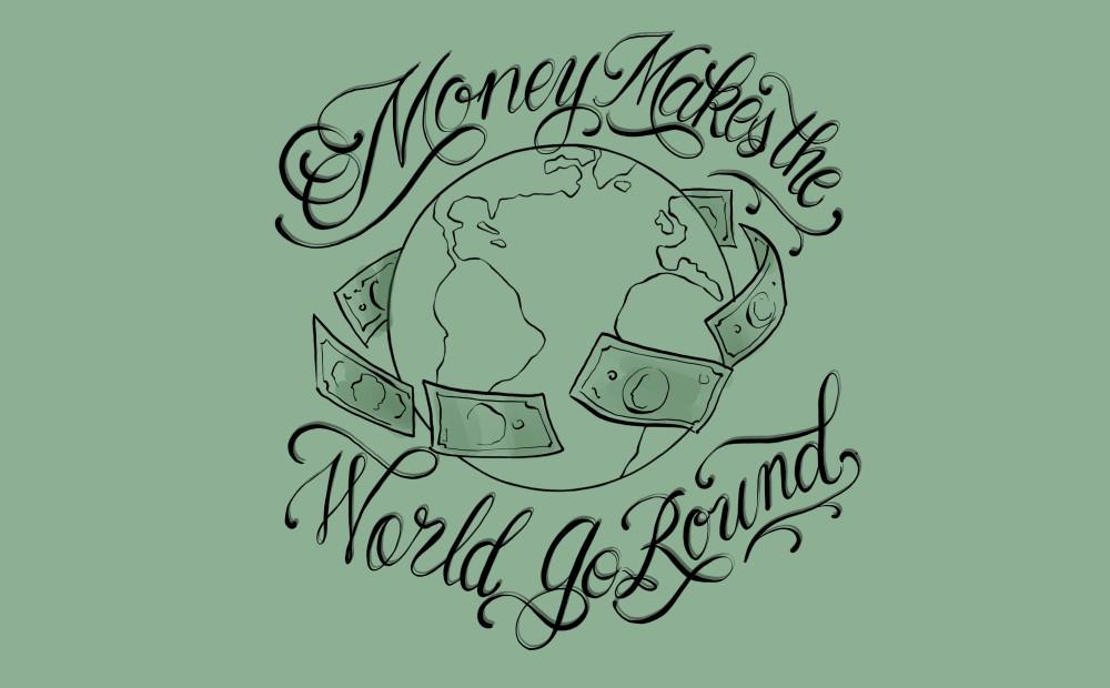 Money makes the world go round Illustration